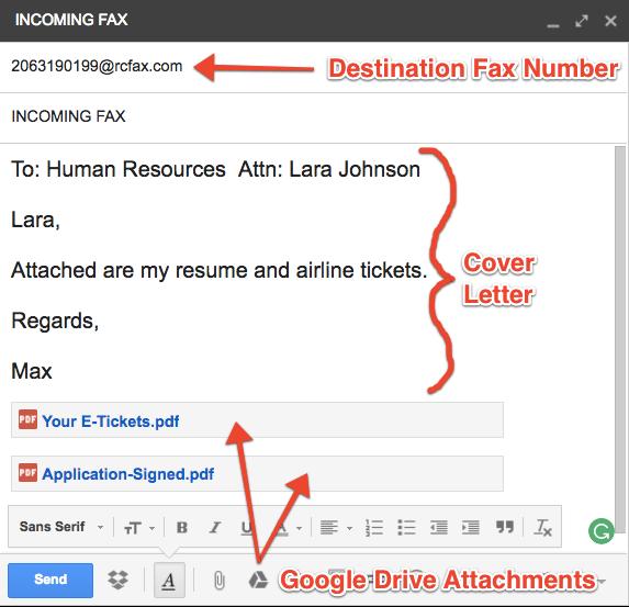 Google Fax step 4
