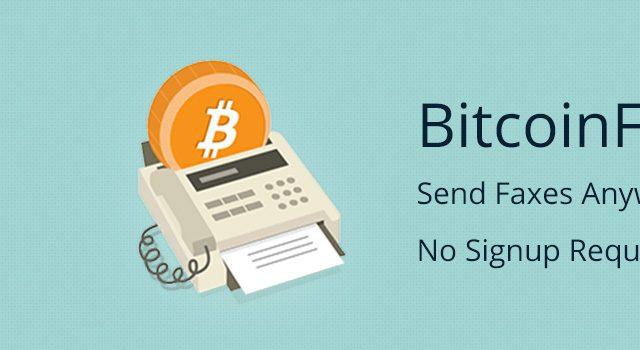 Bitcoin Fax online