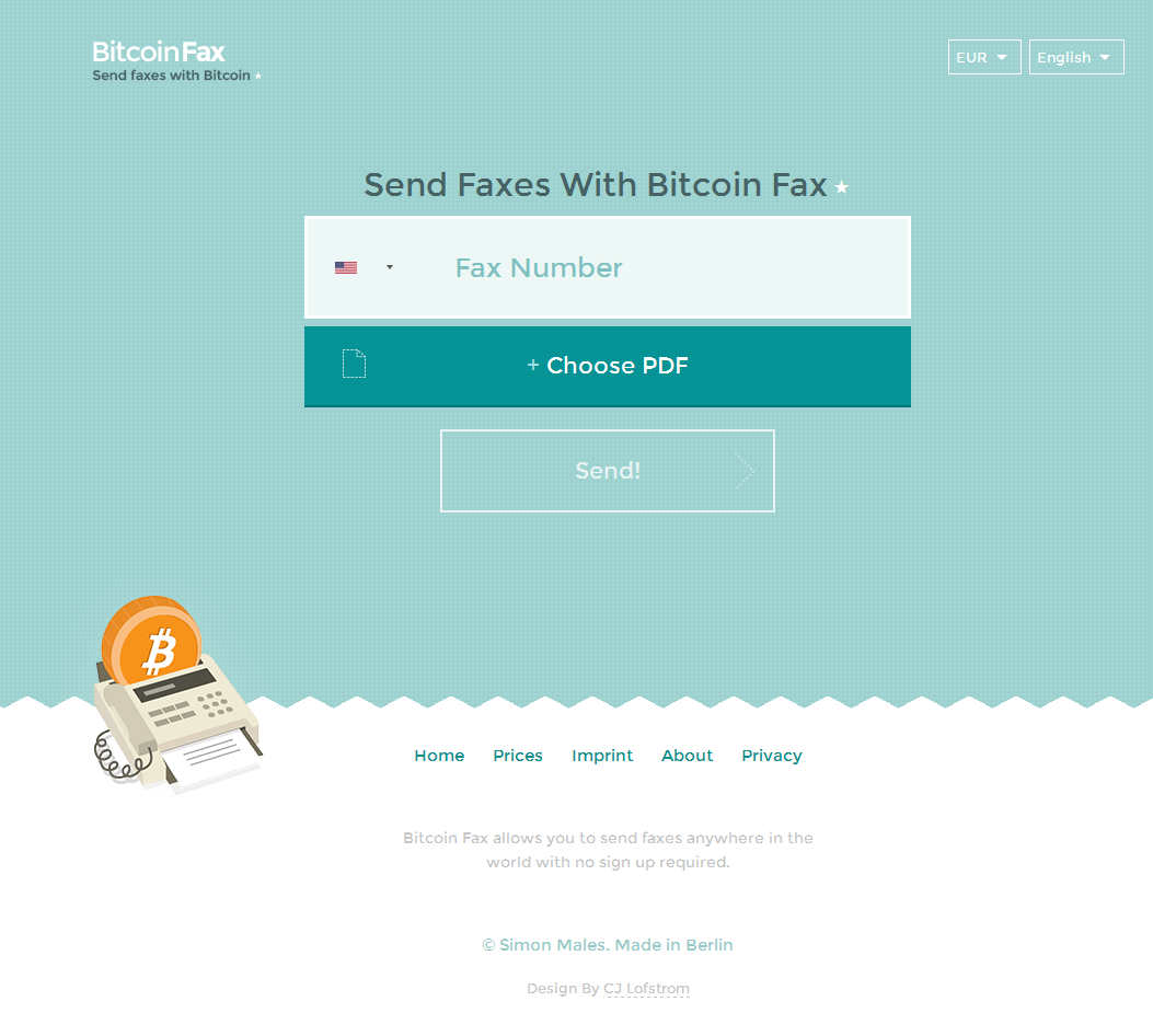 bitcoin fax