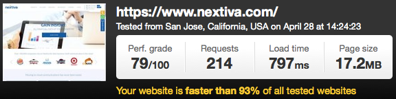 nextiva fax speed test