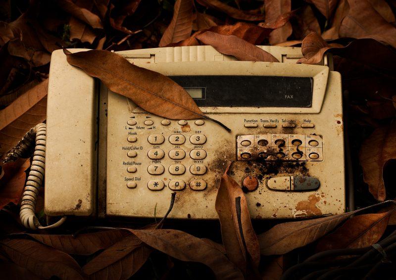old fax machine