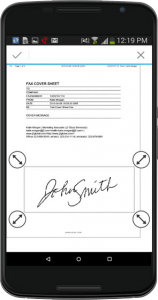 fax with signature android phone
