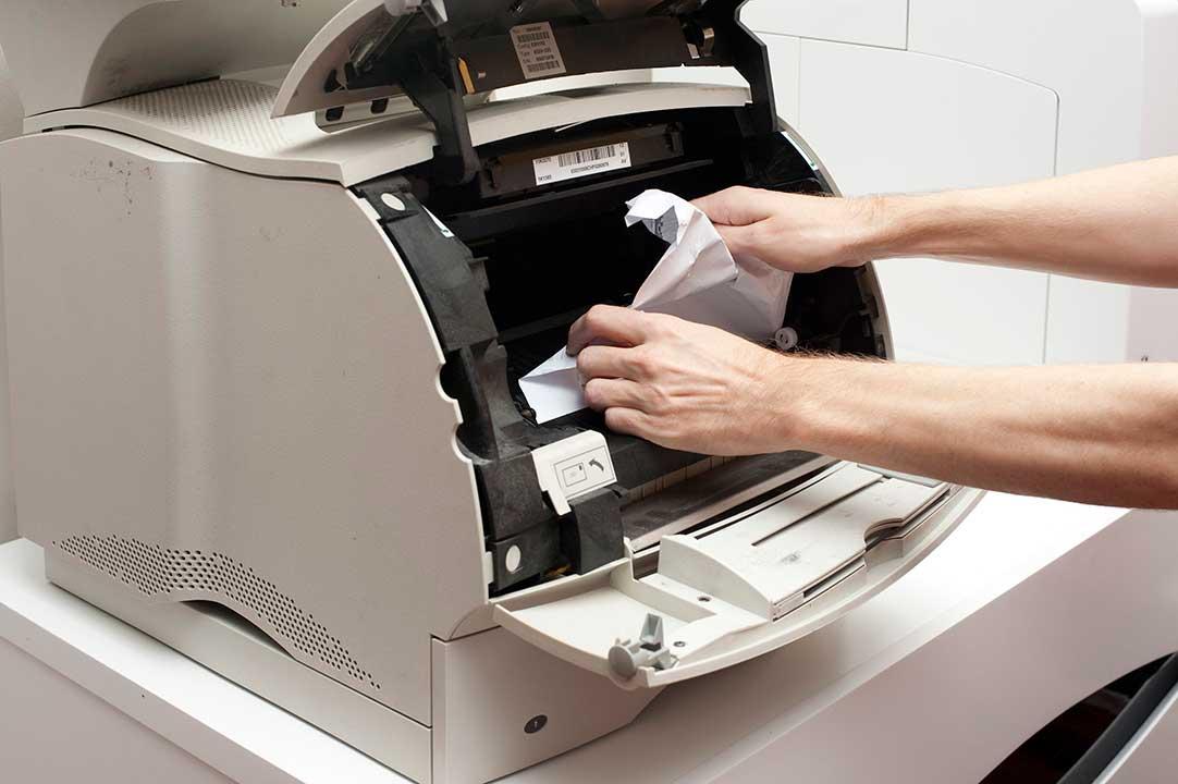 fax machine paper jam